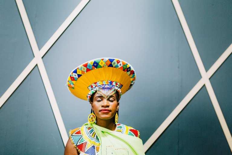 Johannesburg photographer traditional zulu wedding dress Amsterdam portrait bride