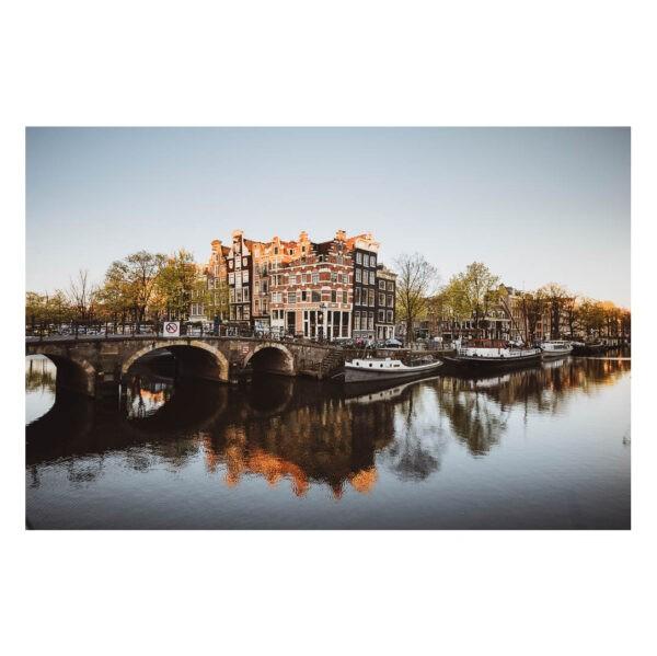 Print Amsterdam Prinsengracht Cafe Papeneiland