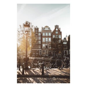 Amsterdam stock photo poster print Jordaan houses