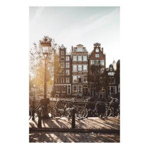 Amsterdam stock photo poster print Jordaan houses