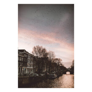 Amsterdam stock photo poster print Sunset